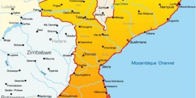 Mocambique Map Mapas Mocambique Africa Oriental Africa